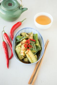 Chinese Smashed Cucumbers | Thirsty For Tea