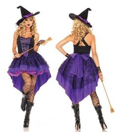 Witch Costume for Women Adult Halloween Fancy Dress ladies costume plus size 2XL #instyles #Dress