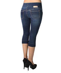 Blue Michelle Capri Jeans - Women #zulily #zulilyfinds