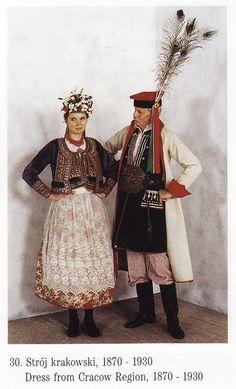 Tradycyjny strój krakowski // Folk costumes of Kraków, Poland #Cracow