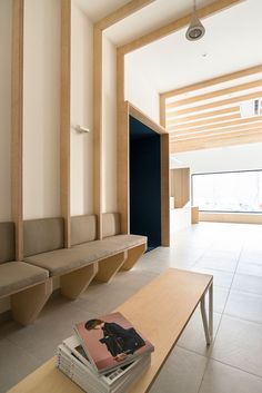 Hekla / Architecture / Interieur / Analabo / Laboratoire d'analyses / Bordeaux / Bois / Mobilier / Banquette / Medical / Trame / Ossature bois / Salle d'attente