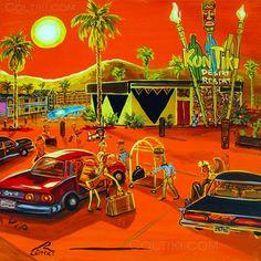 Kon Tiki Desert Resort Painting by Coltiki