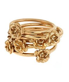 Nolan desert rose stackable bouquet rings. So pretty and delicate!