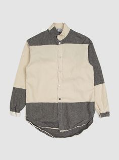 lowest price 81e79 e50d1 Tender Type 442 Bound Hem Split Tail Shirt English Woven Cotton Calico Weft  Stripe in Wide