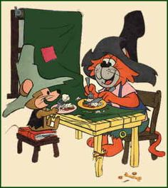 Hanna Barbera cartoons after school with a glass of milk and a Ho Ho. Punkin' Puss and Mushmouse enjoy a rare moment of accord, from the cover of the Gold Key comic book. Classic Cartoon Characters, Favorite Cartoon Character, Classic Cartoons, Comic Book Characters, Old School Cartoons, Old Cartoons, Animated Cartoons, Hanna Barbera, Vintage Comic Books