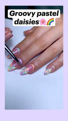 Bling Acrylic Nails, Glam Nails, Best Acrylic Nails, Nude Nails, Pastel Nails, Cute Easy Nail Designs, Nail Art Designs Images, Spring Nails, Summer Nails