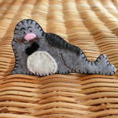 Seal, mister seal... by comakoala #etsy #craft #brooch #felt #seal