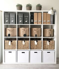 Home Office Storage System Home Office Storage, Home Office Organization, Home Office Space, Home Office Design, Home Office Decor, House Design, Home Decor, Bedroom Storage Shelves, Office Shelving