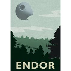 Star Wars movie print. Film art poster inspired by this iconic planet in the StarWars saga. Minimalist wall art Print shows the forest planet of Endor with the death star looming large in the sky. Minimalist style with a textured paper effect to give it a subtle water colour look and the appearance a bit of age in keeping with the classic 80s films. This is printed using top quality inks on semi-gloss, specialist paper. Size options: A3 (42 x 29.7 cm) A4 (21 x 29.7 cm) A5 (14.8 x 21 cm)