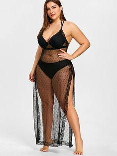 Up to 60% off. Free shipping worldwide.See Through Plus Size Beach Cover Up.#coverup #plussize #plussizefashion #beach #beachoutfits#summer#summerstyle#holiday Plus Size Beach, Weather Wear, Warm Weather, Cut Out Swimsuits, Swimwear Cover Ups, Plus Size Model, Lingerie, Plus Size Swimwear, Well Dressed