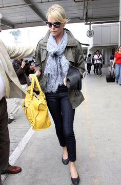Charlize Theron, yellow Balenciaga