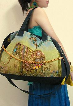 Cool Shiny Retro Elephant Handbag Shoulder Bag. Miya Thailand Ethnic Embroidery  Bag - Travel in Africa e3a3d6e4cd0e4