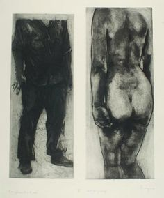 Michael Mazur, The Artist and the Model: Confrontation (1968)