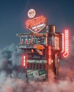 Pop Culture Apocalypse In Amazing Digital Art By Filip Hodas Cyberpunk City, Ville Cyberpunk, Cyberpunk Fashion, Cinema 4d, Arte Steampunk, Graphisches Design, Graphic Design, Design Color, Brand Design