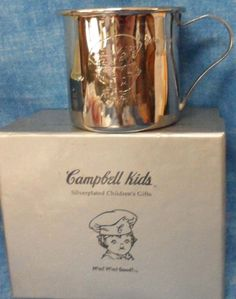 27640a8d86 Vintage Campbell s SOUP Kids Silver Plated Child s (Baby) Cup