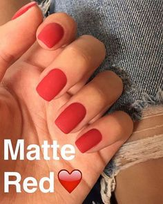 Amazing matte nails on red - LadyStyle