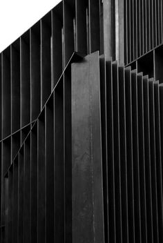 | DETAILS | Vertical #black #fins meets #architectura; #texture of #black meets #shadows