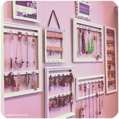 DIY: Picture Frames turned Jewelry Displays Tutorial | Megan Fenno