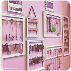 DIY: Picture Frames turned Jewelry Displays Tutorial | Megan Fenno