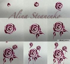 How to draw roses on nails 3d Nail Art, Rose Nail Art, Rose Nails, Flower Nail Art, Nail Arts, Nagel Hacks, Nagel Gel, Diy Nails, Bling Nails