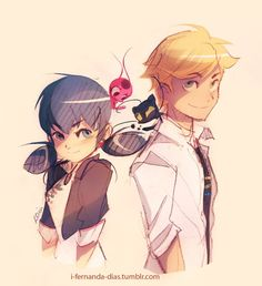 miraculous ladybug marinette and adrien - Google Search