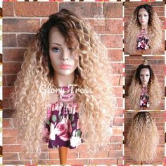 ON SALE // 360 Lace Front Wig, Long Body Wave Lace Front Wig. 100% Human Hair Blend, Ombre Blonde, 13X4 Free Parting // ZARA Blonde Lace Front Wigs, Blonde Wig, Blonde Ombre, Ash Blonde, Concealer, Flat Iron Curls, Afro Wigs, Natural Hair Styles, Long Hair Styles