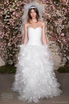 Oscar de la Renta, #wedding dress