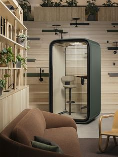 The stylish and super smart Framery One by @framery is the world's first connected soundproof pod. #frameryone #seriousabouthappiness