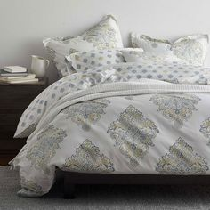Linden Reversible Organic Duvet Cover | The Company Store