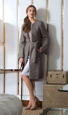 Eleganter mantel mit schleifen details