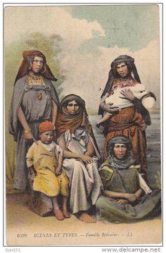 Tunisie - SCENES ET TYPES - Famille Bédouine - 1910