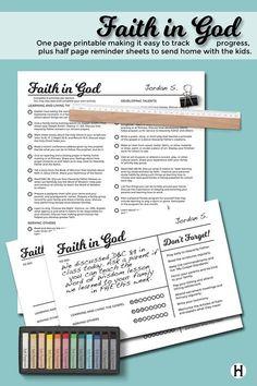 Faith in God printables