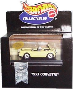 Hot Wheels Collectibles 1953 Corvette Limited Edition for the Adult Collector 1:64 Scale Die-Cast Collectible *** For more information, visit image link.
