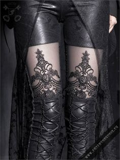 Macbeth leggings | Gothic, Steampunk, Rock, Fetish, and other Alternative fashion retail and wholesale apparel & accessories. Wow. Lovely.