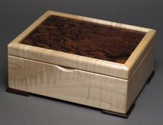 Keepsake Box, Walnut Burl and Curly Maple by watswood on Etsy https://www.etsy.com/listing/119700658/keepsake-box-walnut-burl-and-curly-maple