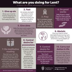 Infographic: What are you doing for Lent?