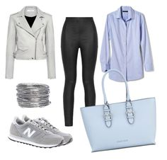 """apple shape 1"" by barbizone on Polyvore featuring IRO, New Balance, Armani Jeans, Banana Republic and Avenue"