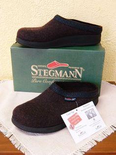 NEW Stegmann 10.5 Womens Woolfelt Flex Clogs Plum Poly Bottom Slip On Casual  #Stegmann #Clogs #Casual