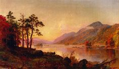 'Lake George', Oil On Canvas by Jasper Francis Cropsey (1823-1900, United States)