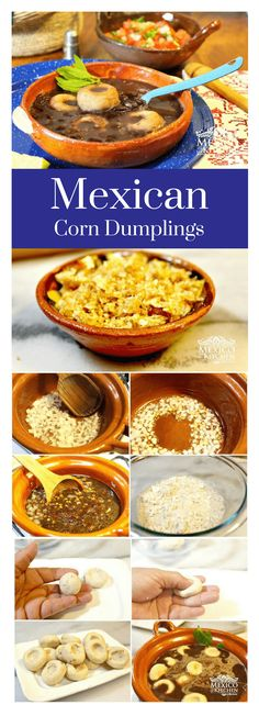 How to make corn dumplings │It is an easy soup with few ingredients that can be prepared in minutes. This is a nourishing, delicious and comforting meal that can be enjoyed all year long. #mexicanrecipes #mexicancuisine mexicanfood #soup