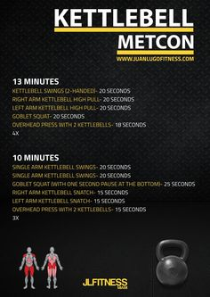 A longer cardio workout isn't necessarily a better cardio workout. These kettlebell metcons will require your entire body to work as a whole.