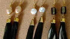 Long Tassel green Earrings  Boho earrings di Frammentidivetro