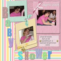 Baby Shower Scrapbook Layouts | Baby Shower - Digital Scrapbooking Gallery at Digitals