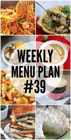 Weekly Menu Plan #39
