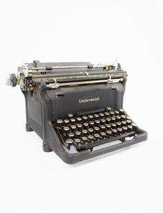 World War II Era (1943-1944) Underwood Standard Manual Typewriter. $125.00, via Etsy.