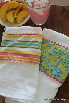 Dressed Up Kitchen Towels -- The Pinterest Challenge ~ * THE COUNTRY CHIC COTTAGE (DIY, Home Decor, Crafts, Farmhouse)