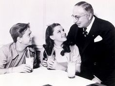MICKEY AND JUDY WITH LOUIS B. MAYER