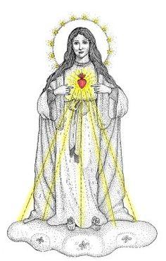 Aparición del INMACULADO CORAZON DE MARIA a una religiosa Hija de la Caridad de San Vicente de Paul, ocasión en que le ofreció el ESCAPULARIO VERDE para la salud y la conversión de los pecadores.