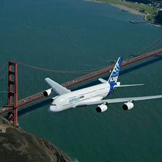 Airbus A380-861 F-WWEA above the Golden Gate Bridge in San Francisco, October 2007. This aircraft would eventually become A6-EDJ with Emirates. (Image: Airbus)