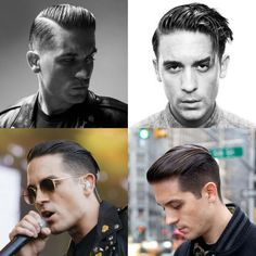 Cool G-Eazy Men's Hairstyles - Slicked Back Hair, Taper Fade, Comb Over, Side Part, and Undercut